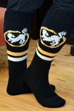 Fair Isle Knitting, Knitting Socks, Wool Socks, Diy And Crafts, Knit Crochet, Logos, How To Make, Fashion, Ice Hockey