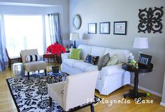 Tracey's gorgeous living room