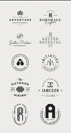 Monogram free vector logo templates kit for branding projects Design Blog, Graphic Design Inspiration, Web Design, Typo Logo, Logo Branding, Branding Design, Brand Identity Design, Monogram Logo, Typographie Logo