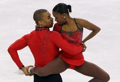French figure skaters Vanessa James and Yannick Bonheur - the first black figure skating couple to compete at the Olympic Games.    Read more: http://www.oprah.com/world/Highlights-from-the-2010-Vancouver-Olympic-Games/7#ixzz22PunRddO