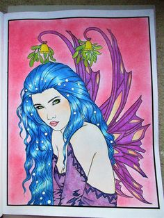 festive magic - fantasy christmas coloring book - pastelky caran d´ache pablo