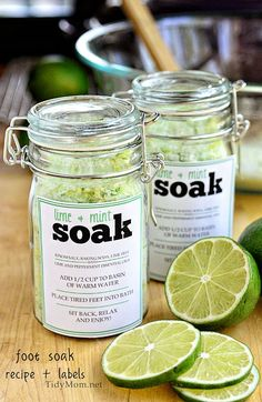 Lime + Mint bath salts!  made with lime essential oil