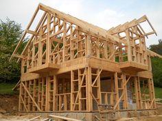Struttura di case prefabbricate in legno