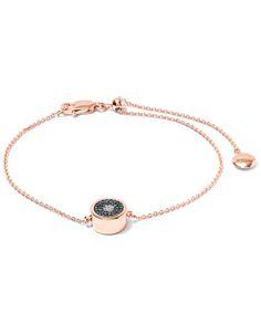 Monica Vinader Rose Gold-Plated Evil Eye Diamond Bracelet | Accessories | Liberty.co.uk