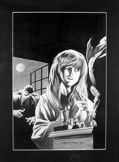 Original art by Wrightson for the first appearance of Swamp Thing