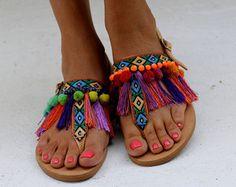 Sandales gladiateur Astarte à la main sur par ElinaLinardaki