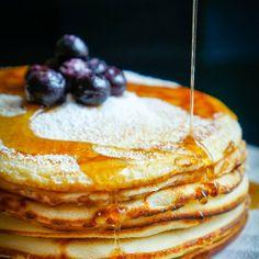 Homemade Blueberry Maple Pancakes