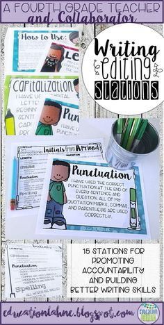 Are you looking to build better writers that are accountable in every aspect of the writing process? These Writing Editing Stations are perfect for your kids to use after any writing prompts. These fifteen stations help your students stay on topic while still being creative and descriptive. For more products, tips, and tricks, check out Education Lahne on Pinterest!