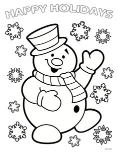 Here are the Beautiful Free Christmas Coloring Sheets Coloring Page. This post about Beautiful Free Christmas Coloring Sheets Coloring Page was posted . Snowman Coloring Pages, Printable Christmas Coloring Pages, Free Christmas Printables, Coloring Book Pages, Christmas Coloring Sheets For Kids, Free Printables, Christmas Colors, Christmas Art, Christmas Recipes