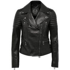 Belstaff Phoenix leather biker jacket ($950) ❤ liked on Polyvore