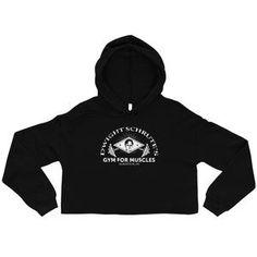 8e6e95dc Gym For Muscle Crop Hoodie - Women's Crop Top Sweatshirt - Dwight Schrute -  Free Shipping