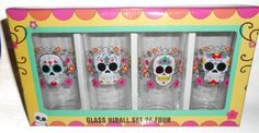 Day of the Dead Skull Glass Hiball Glasses Set of 4 by Sugar Skulls, http://www.amazon.com/dp/B00ALMW56O/ref=cm_sw_r_pi_dp_N.sZrb0VFGC3A
