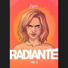 """""""Radiante: Vol. 0"""", Jujuqui. Muito legal, comprem essa HQ da Juliana Moreira! http://jujuqui.tumblr.com/"""