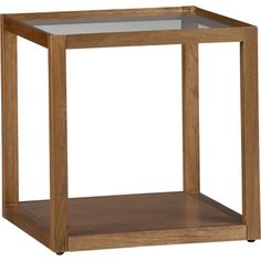 Mimic Cognac Cube in Side, Coffee Tables | Crate and Barrel | Two of these in front of sofa? $60 each.