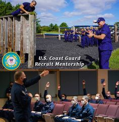 As recruits undergo training at U.S. Coast Guard Training Center Cape May, each mentor comes to the training center three times in the span of eight weeks to provide answers and guidance about what it takes to have a successful career in the Coast Guard. Coast Guard Training, Patriotic Poems, Cape May, What It Takes, Training Center, Career, United States, Success, Times