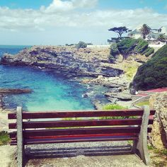If you could sit on a bench in Hermanus with anyone who would it be & what would you say. Sa Tourism, Open My Eyes, Countries Of The World, Cape Town, Places Ive Been, South Africa, Old Things, Bench, Relax