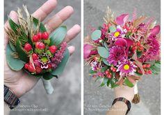 Baiciurina Olga's Design Room: Осенний букет невесты с каллами и ягодами-Purple Callas autumn wedding bouquet