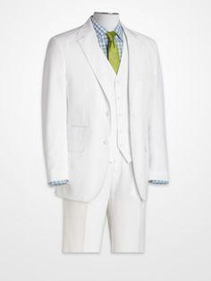 Steve Harvey White Linen Suit Separates #jacket #vest #pant #whiteparty White Linen Suit, Linen Suits For Men, Mens Fashion Suits, Mens Suits, Fashion Outfits, Big Man Suits, Steve Harvey Suits, Men's Suit Separates, Fashion Line