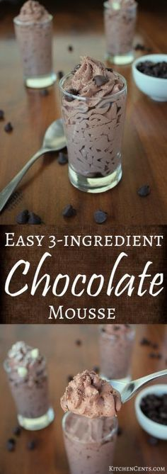 Easy 3-ingredient chocolate mousse   KitchenCents.com