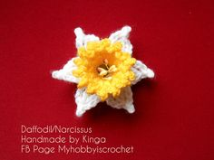 Crochet Daffodil ~ Free Spring Flower Crochet Pattern