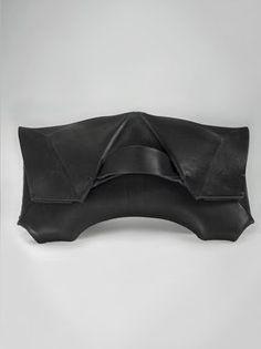 Efercio Theca Black Leather Clutch