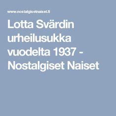 Lotta Svärdin urheilusukka vuodelta 1937 - Nostalgiset Naiset