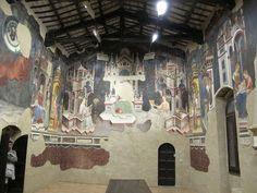 Gentile da Fabriano e bottega - Sala delle Arti liberali e dei Pianeti - ciclo di affreschi frammentario - 1411-1412 - Palazzo Trinci a Foligno