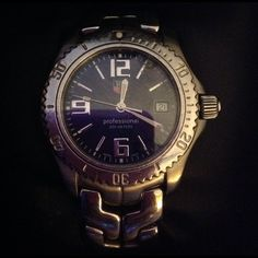 Authentic Tag Heuer Professional watch Authentic Tag Heuer Professional watch. Come with box.  This watch for a small wrist like about 6.5 inches     No extra link included. the strap used to be fixed before    Please ask for more details.  Tag Heuer Jewelry