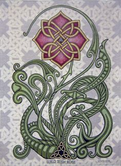 Wild Irish Rose x Woven Tapestry – Celtic Knot, Ireland Wilde irische Rose 26 x 36 Webteppich keltisch Celtic Patterns, Celtic Designs, Graphic Pattern, Wild Irish Rose, Celtic Art, Celtic Dragon, Celtic Mandala, Celtic Tattoo For Women Irish, Irish Celtic Tattoos