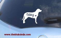 Greater Swiss Mountain Dog Silhouette Vinyl Sticker - personalized Car Decal by blakdogs on Etsy