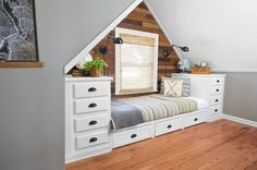Daybed alcove made from stock kitchen cabinets for $686