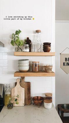 Home Decoration Inspiration .Home Decoration Inspiration Interior Design Kitchen, Interior Design Living Room, Kitchen Pantry Design, Kitchen Styling, Kitchen Decor, Cute Kitchen, Kitchen White, Ikea Design, Ideas Hogar