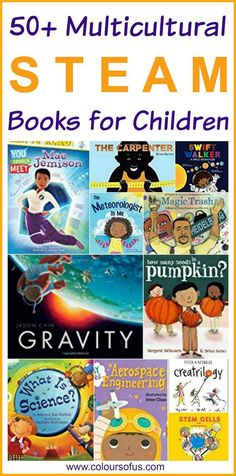Multicultural STEM/STEAM Books for Children: Diverse Picture Books & Chapter Books about Science, Technology, Engineering, Art & Maths; for ages 0 to 13 Steam Activities, Book Activities, Harmony Day, Chapter Books, Children's Literature, Elementary Schools, Childrens Books, Teaching, Stem Science