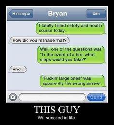 Logic at its finest....
