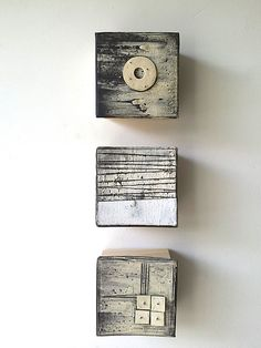 Marks and Texture III by Lori Katz: Ceramic Wall Sculpture available at www.artfulhome.com