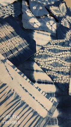 Indigo Samples workshop with Melissa Arnold   3 day workshop on the art of traditional shaped resist (shibori) and indigo dyeing. Some  shibori techniques require the use of  additional tools in order to make them properly. We will be working on Kumo shibori (spiderweb), on Maki-Age shibori (patterns within motifs), and on Tesuji shibori (hand pleating).