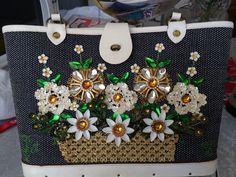 Enid Collins Flower Basket 5, Bucket Bag