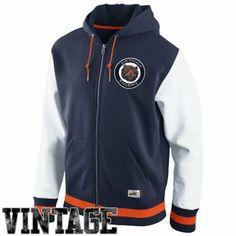 Nike Detroit Tigers Cooperstown Collection Varsity Full Zip Fleece Hoodie - Navy Blue