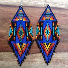 Summer Rising Earrings- Dark Blue