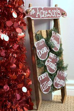 Farmhouse Modern Christmas Home Tour Christmas Sled, Woodland Christmas, Primitive Christmas, Modern Christmas, Christmas Signs, Rustic Christmas, All Things Christmas, Christmas Holidays, Christmas Wreaths