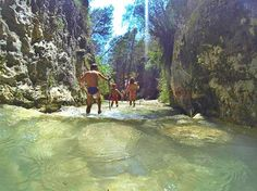 Family walk in the Rio Chillar in #Andalusia. Cool and refreshing in the heat of the summer.
