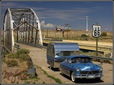 Photo by Mike Jones. Route 66 just west of Albuquerque, NM and the Rio Puerco bridge. saw it on my road trip Old Route 66, Route 66 Road Trip, Historic Route 66, Travel Route, What Is Route 66, Road Trips, Vw Golf Mk1, Volkswagen Golf, Vintage Travel Trailers