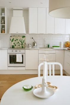 Ikea cabinets and white appliances