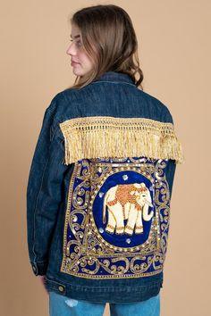 Hoodie Damen Elefant Mandala Boho Bohamian Ethno Tribal Ornament