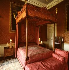 Bedroom, Petworth House, West Sussex, England