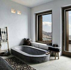 Simple, stunning bathroom!