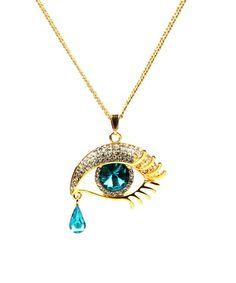 Love this Austrian Crystal & Goldtone Teardrop Pendant Necklace on #zulily! #zulilyfinds