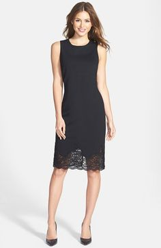 love this lace hem sheath dress (now 50% off!)