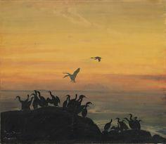 Thorolf Holmboe, Skarver i solnedgang – Nasjonalmuseet – Samlingen