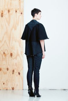 MEM SAMURAI Kape kimonotakki. The most ecological clothing collection in the world comes from Helsinki Finland, and it is made from old denim jeans! MEM Samurai by Paula Malleus. View the full lookbook at weecos.com. Eco fashion sustainable upcycle recycled clothes.
